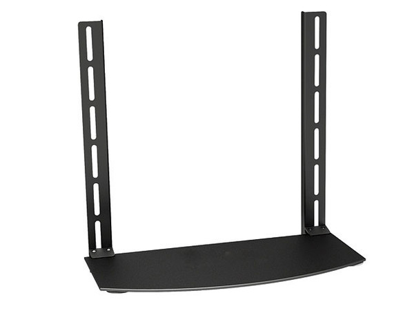 Glass Shelf for DVD, Game System, TV Box Mounts Above or Below TV on existing TV Mount or Wall