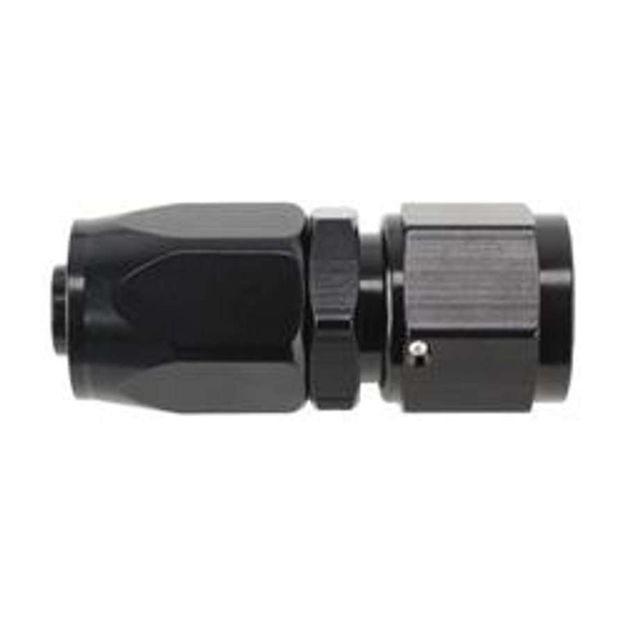 AN Straight Hose End Fitting (Black)