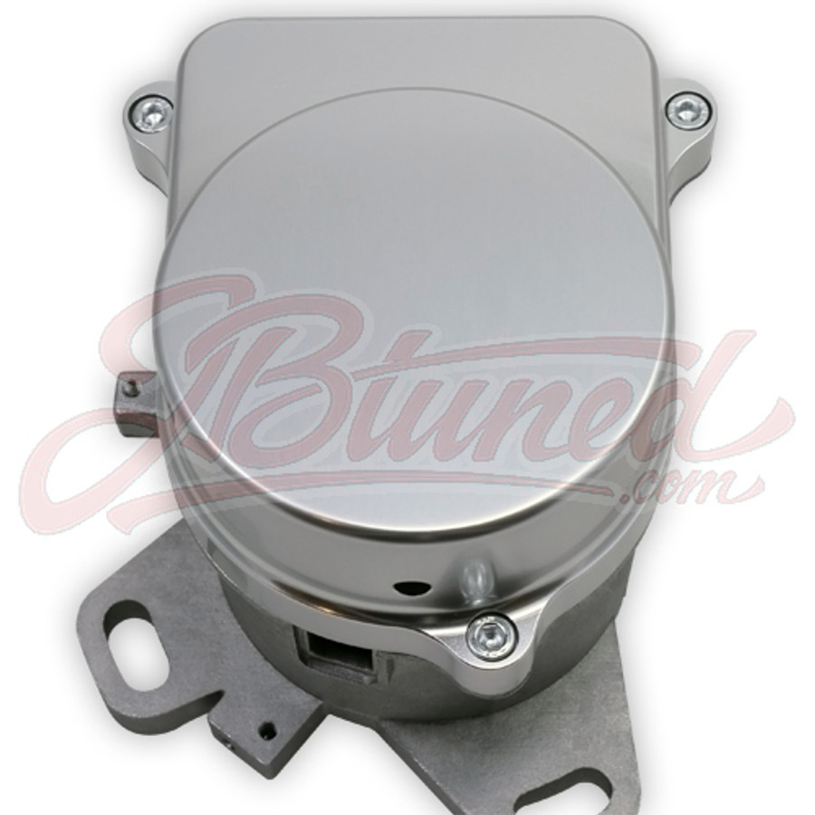 Anodized Clear Polished Aluminum Honda Distributor Cap Block Off for Coil On Plug Conversion