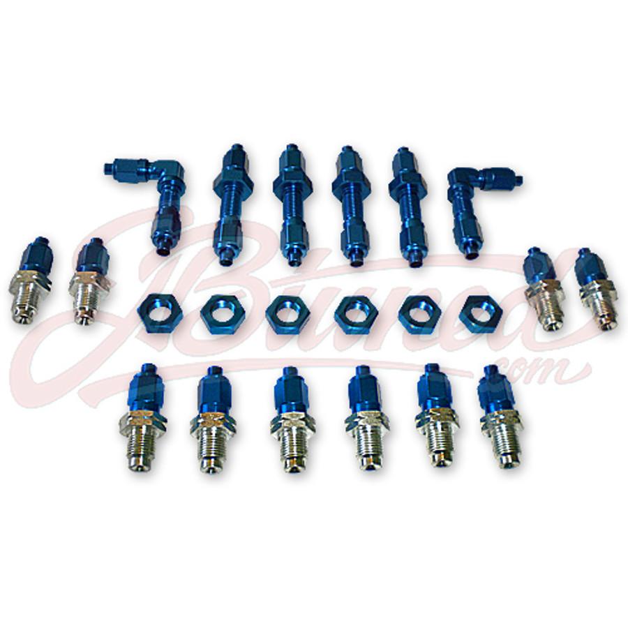 JBtuned Honda Acura Brake Line Tuck Kit - Blue Finish