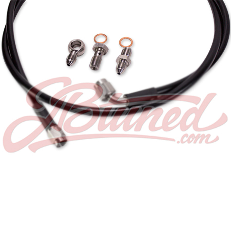 Tucked Stainless Steel Clutch Line Black Honda Civic 95-00 EK D /  B-Series