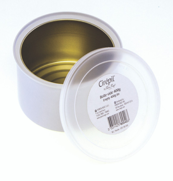 Empty 400g Wax Tin, plain, not label, for wax beads
