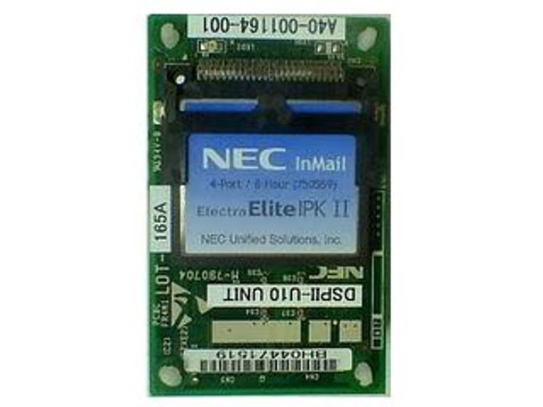 NEC IPK II 4 Port 8 Hour InMail Voice Mail with the 750118 DSPII-U10