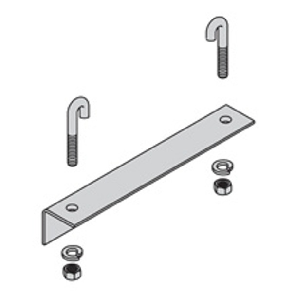 "Cooper-B Line SB211318TG WALL ANGLE SUPPORT KIT, 18"" W"