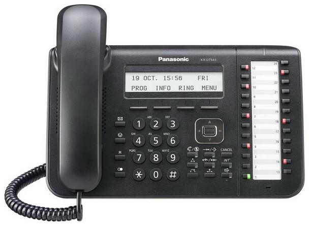 Panasonic KX-DT543-B 24-Buttons Display Phone