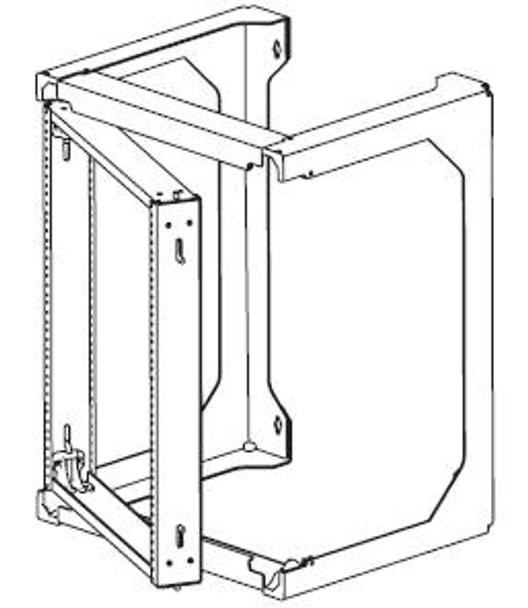 CHATSWORTH Standard 21 RMU Swing Gate Wall Rack Black