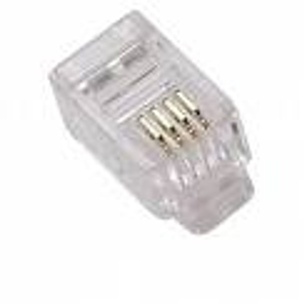 RJ 11 Mod ends, 4 conductor, 100Ct.