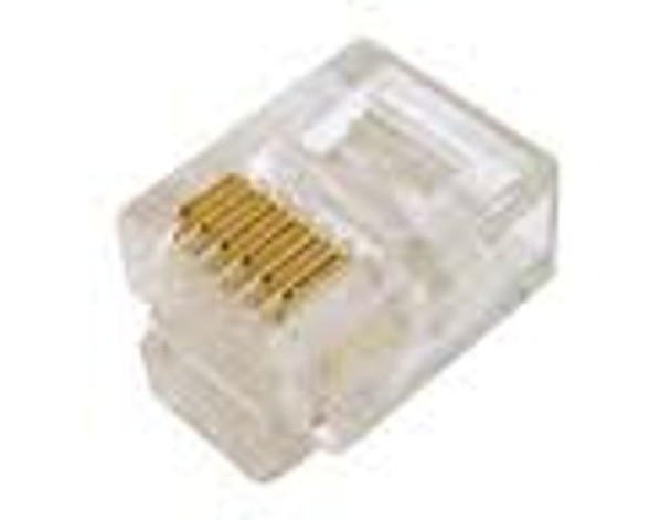 RJ 11 Mod ends, 6 conductor conector, 100Ct.