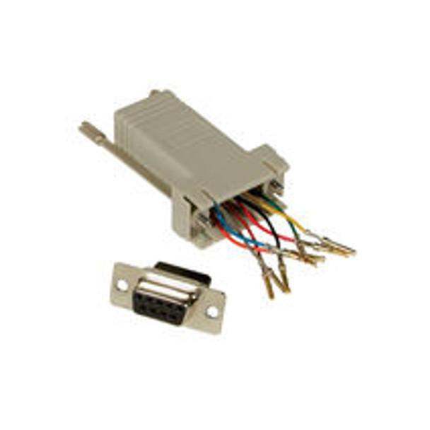 RJ45 to DB9 Female Modular Adapter