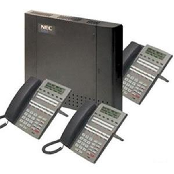 DSX-40 System Kit 4 x 8 x 2 with (3) 22-Button Telephones