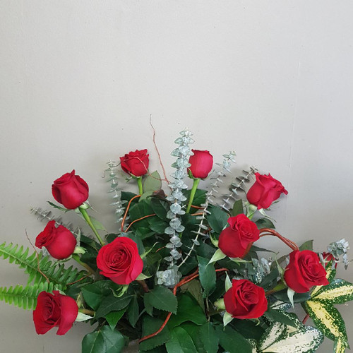 Roses for my Valentine: Hand-Tied Bouquet ( other colors available )