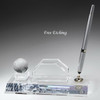Optic Crystal Pen Set with Business Card Holder Desk Accessories