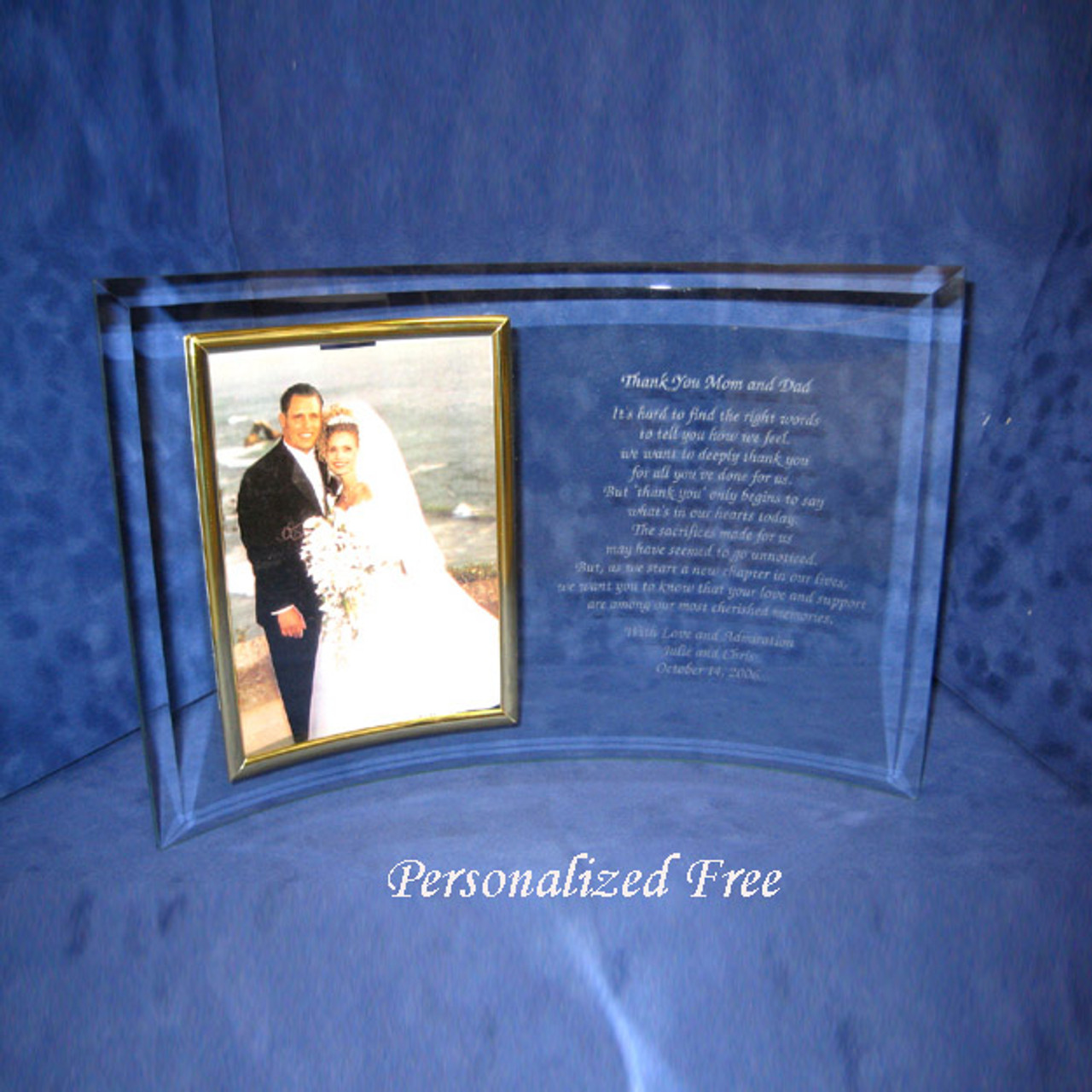 Unique Wedding Gift Personalized Picture Frame Custom Wedding Picture Frame Unique Anniversary Gift 8 x 8