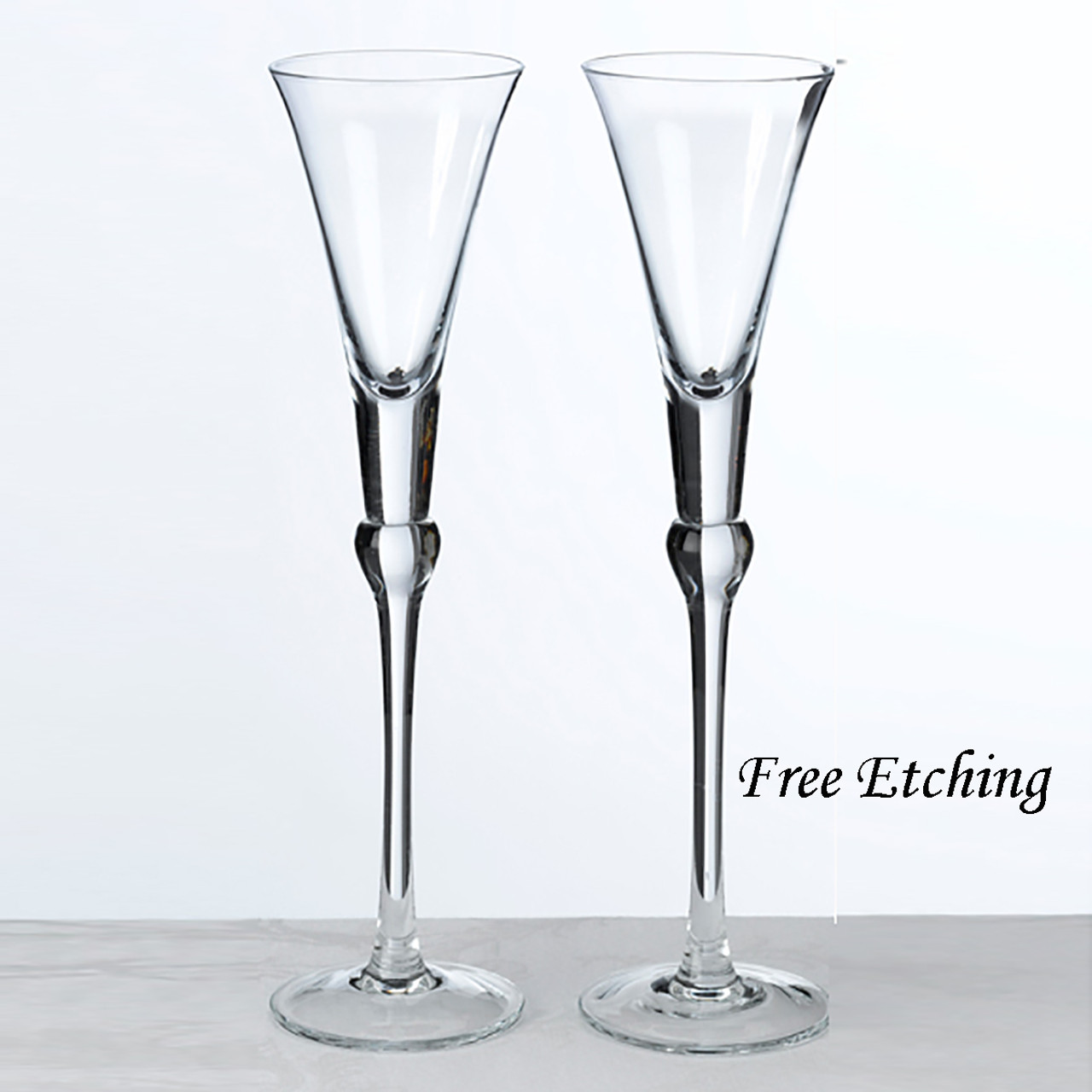 Clear Toasting Flutes