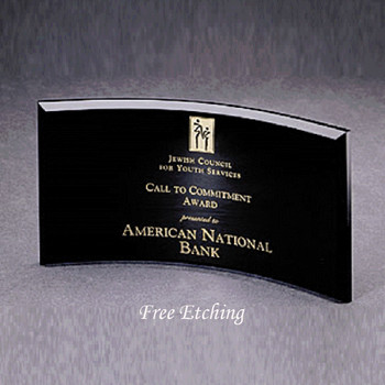 Smoke Colored Curved Glass   Awards, Plaques and Trophies