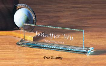 Glass Executive Name Plate