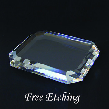 Crystal Rectangle Paperweight Paperweights Engraved.