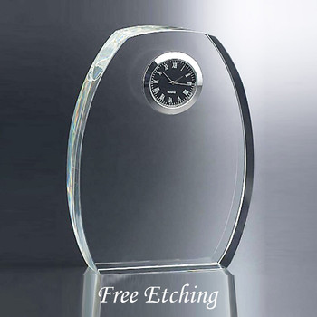 Crystal Desk Clock Office Desk Clock