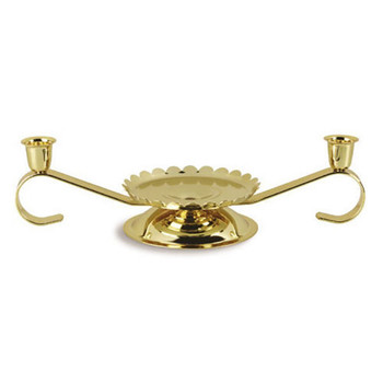 CANDLE HOLDER - gold tone Unity Candle Holders