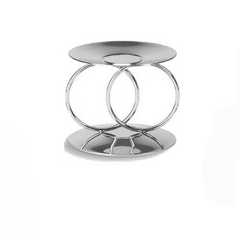 Eternity Rings Unity Candle Holder -silver tone