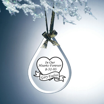 Keepsake Remembrance Gift Teardrop Ornament