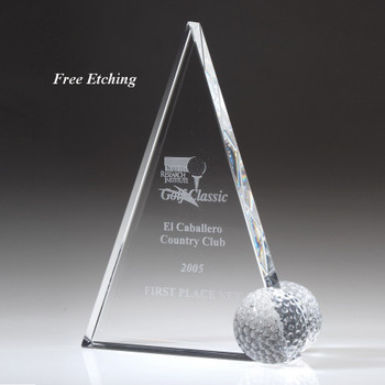 Crystal Peak Golf Trophy Golf Recognition Trophies - Sport Awards
