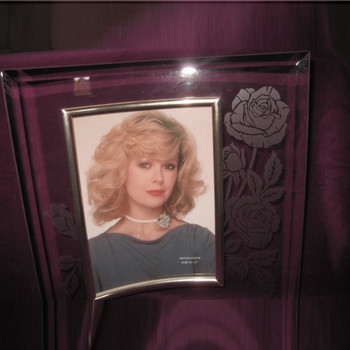 Curved Glass with Etched Rose Sympathy Gifts Personalized