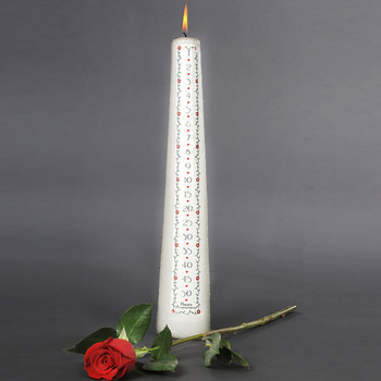 Anniversary Countdown Candle 50th Wedding Anniversary