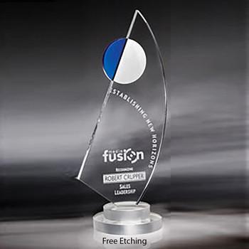Optic Crystal La Mariner Award Sailing Trophies