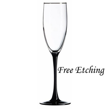 Signature Toasting Glasses Black Stemmed Champagne Glasses