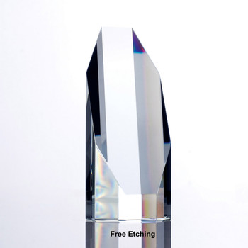 Crystal Octagon Tower Award   Trophies and Plaques Online.
