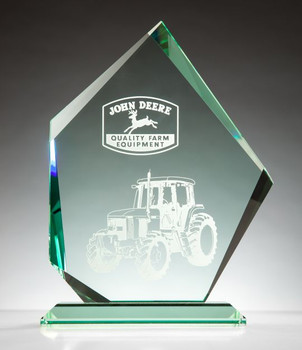 Summit Award Jade Glass Award Plaque