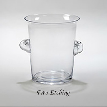 Large Glass Ice Bucket Anniversary Celebration