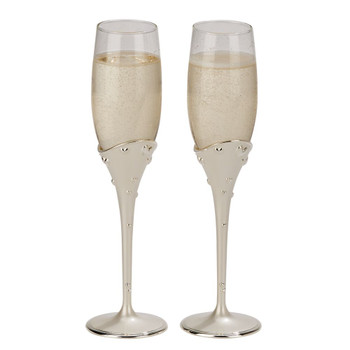 These glasses are beautiful and elegant. Perfect for any wedding or anniversary.
