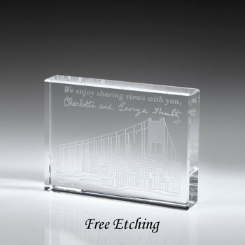 Optic Crystal paperweight Personalized Corporate Gifts