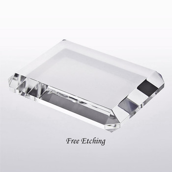 Slant Edge Beveled Paperweight Business Gifts