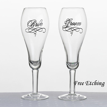 Bride and Groom Glasses Wedding toasting flutes