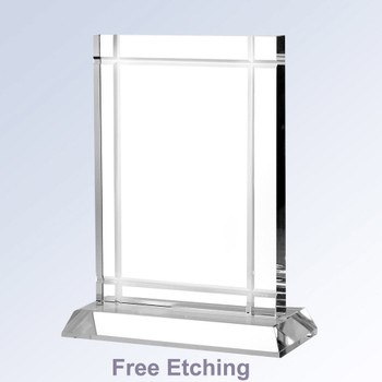 Clear Deco With Crystal Base Business Award Trophies