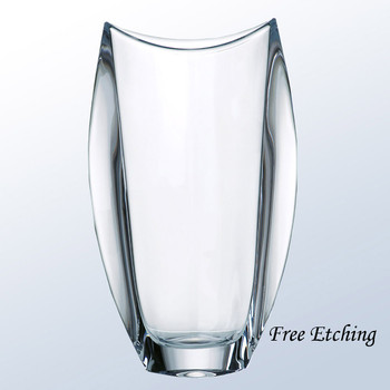 Orbit Crystal Vase Corporate Crystal Gifts