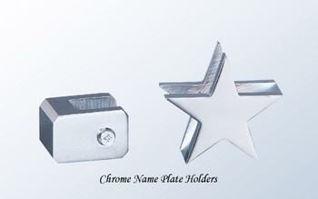 Chrome Name Plate Holders