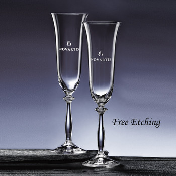 Angela Flute Glass Wedding Glasses