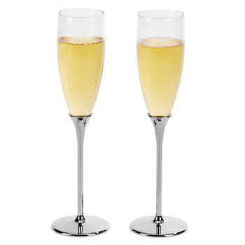 Nickel Plated Toasting Flutes for Your Wedding Day