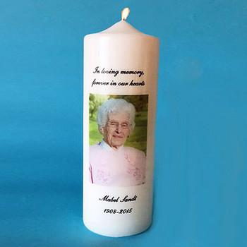 Memorial Candle with Photo and Personalized with Name & Years Sympathy Gifts - Loss of Mother