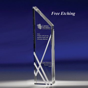 Perceptions Crystal Award Etched