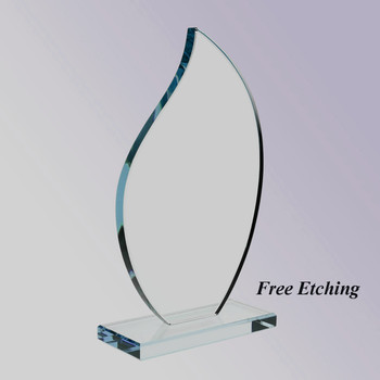 The Flare Glass Award Buy Your Awards at Glass Etching Fever!