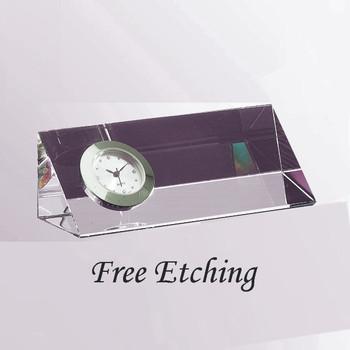 Crystal Triangle Clock Small Clocks
