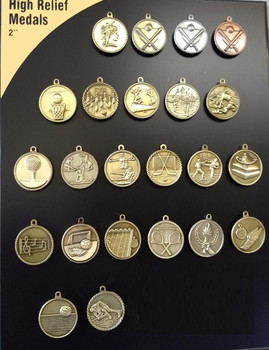 High Relief Sport Medals Youth Achievement Medals
