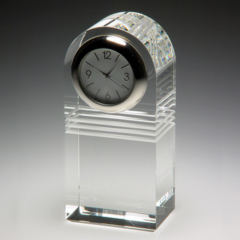 Raise the Bar Crystal Clock Great Retirement Gift.