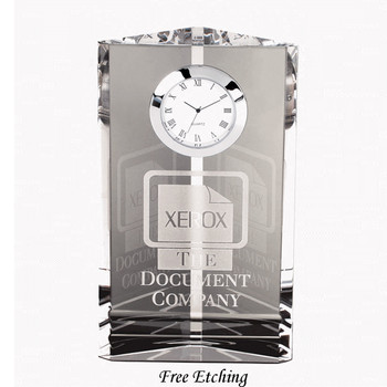 Crystal Pioneer Tower Desk Clock Business Gift