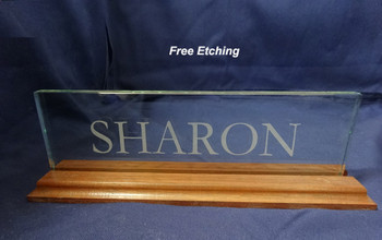 Solid Walnut Base Name Plate Desk Plaque